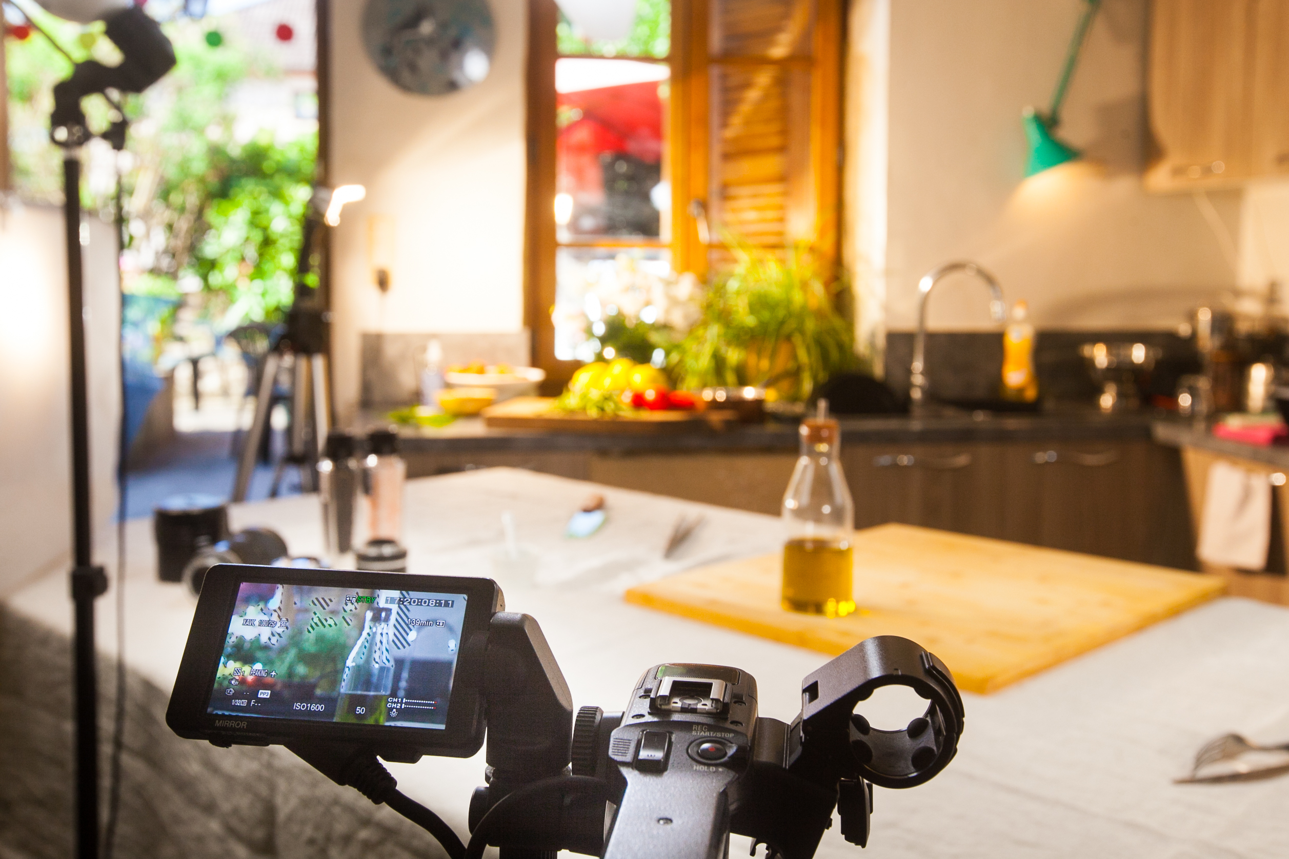 Studio fond vert pour film entreprise